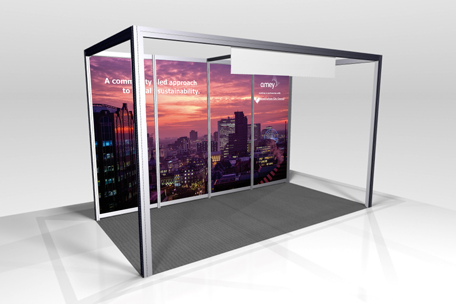 Exhibition Stand Design Hampshire : Exhibition stand and advert design for amey at basecities